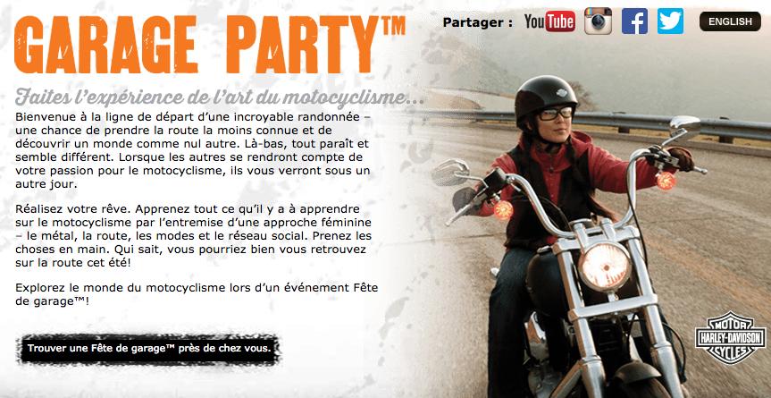 Garage Party Harley Davidson